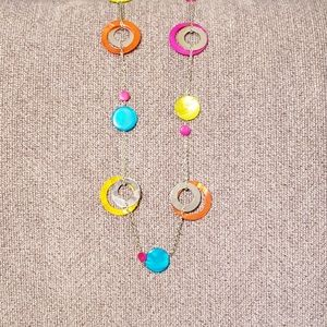 Jewelry - Boho Styled Long Chain Necklace Multi Colored